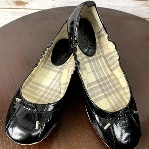 SPERRY BLACK patent leather BALLERINA FLAT SHOES 8